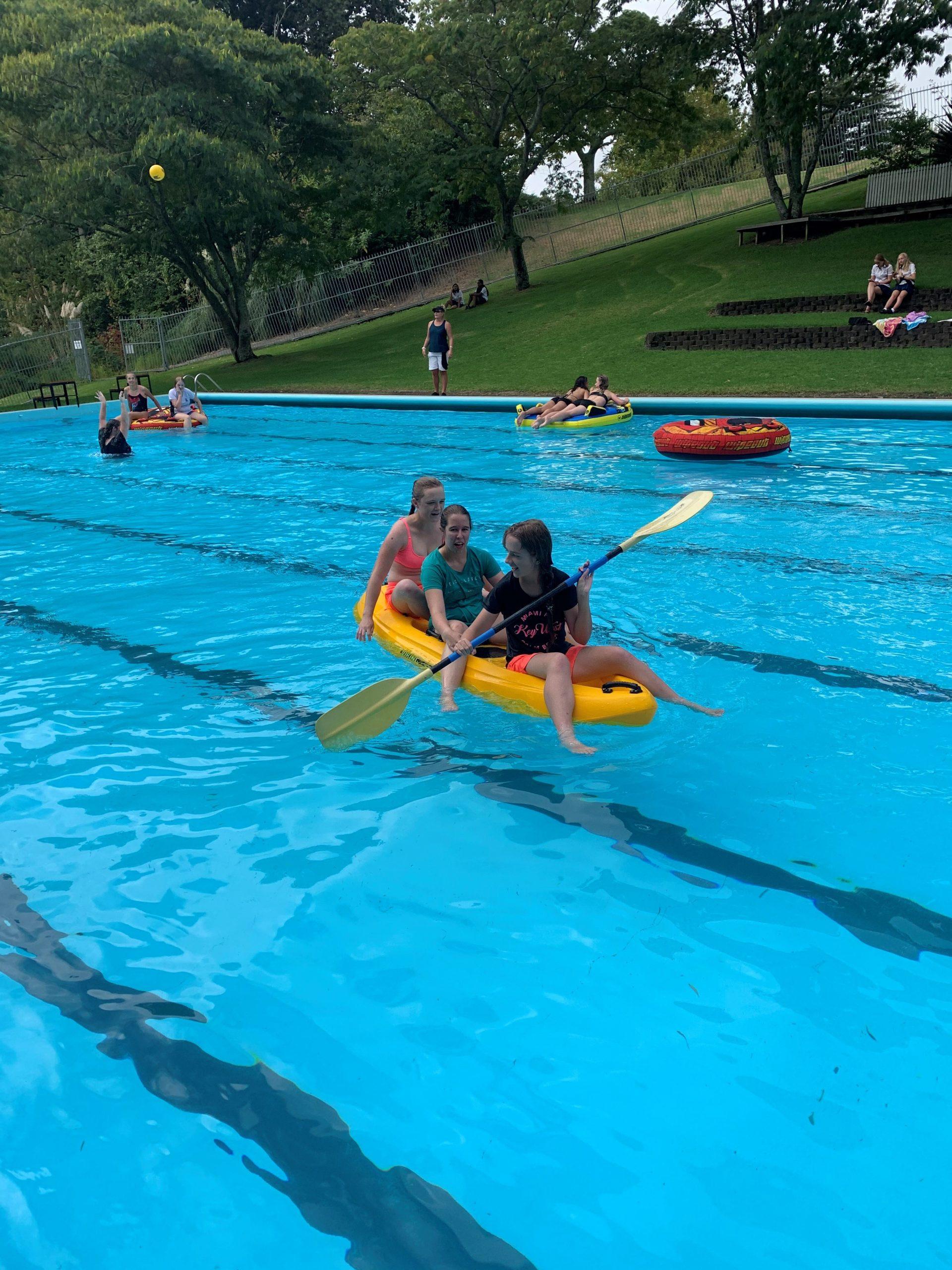 bridget kayaking